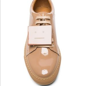 Acne Adriana Patent Leather Nude Beige Sneakers